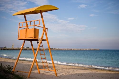 the beach at Doi Mai, on the Romanian Black Sea coast